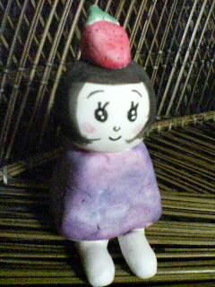 紙粘土のお人形